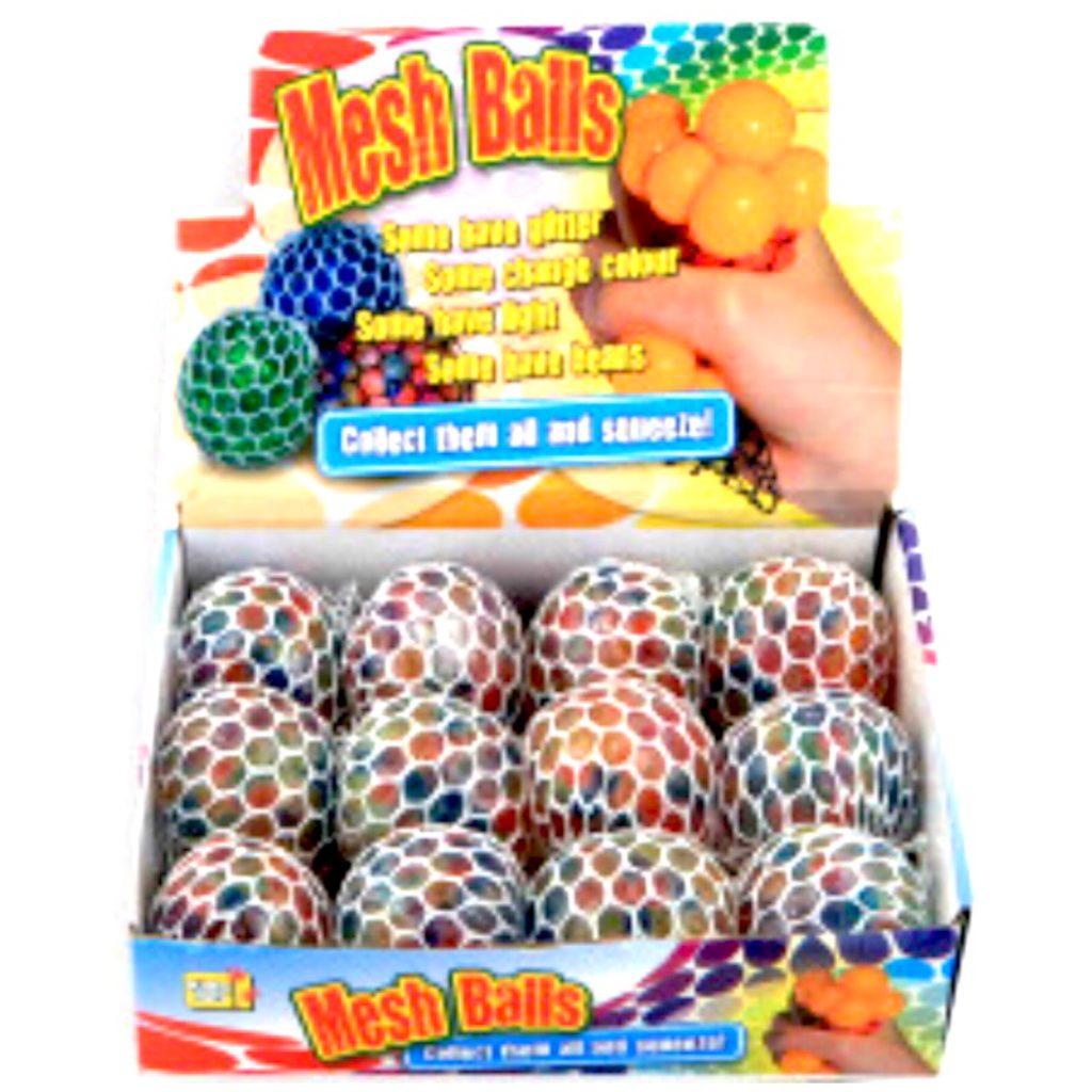Mesh balls, Regnbue, Lys, Legetøj, Pakkekalender, små gaver til børn