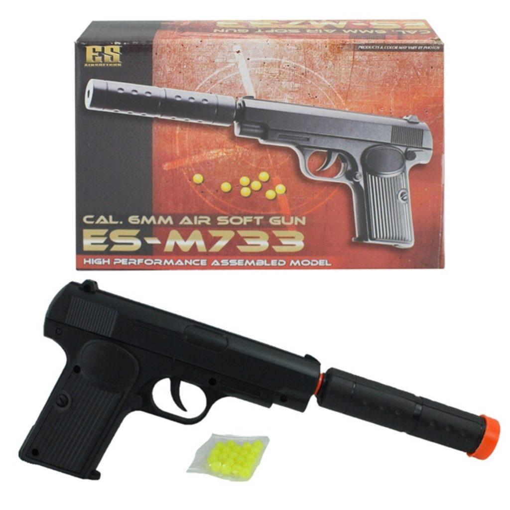 Soft gun med lyddæmper - Legetøj og pakkekalender til børn