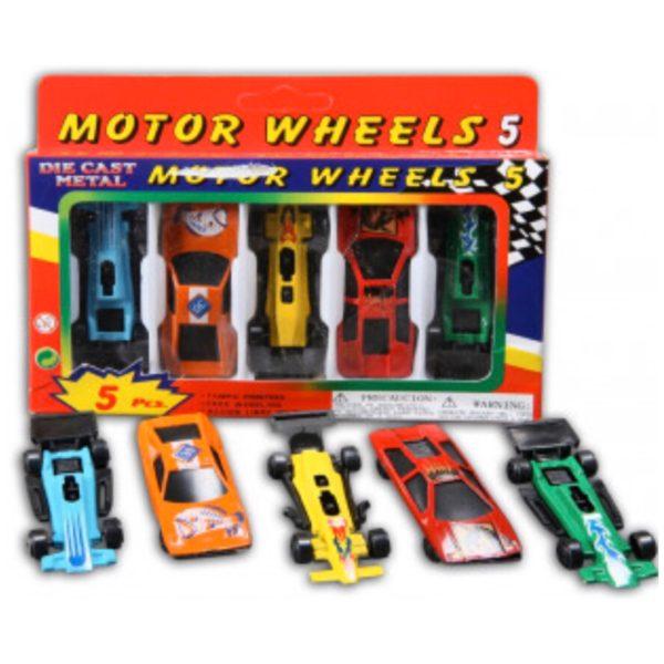 5 flotte metal biler - Legetøj, Pakkekalender