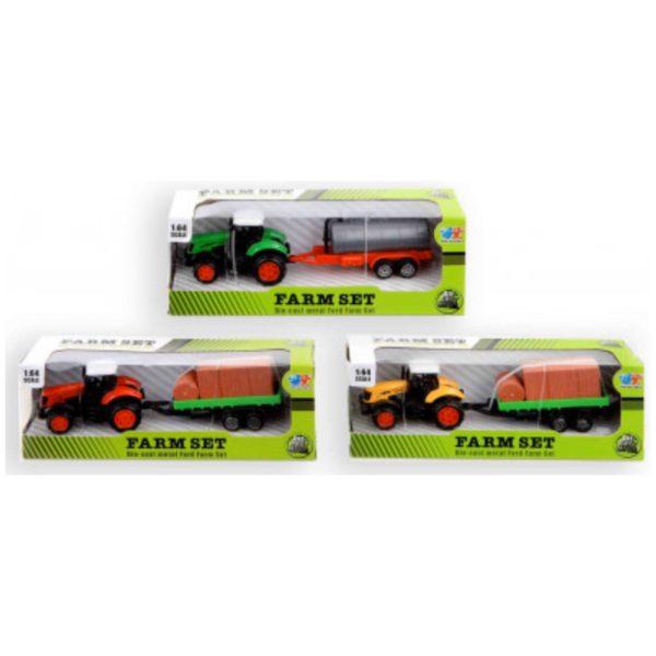 Traktor m. vogn - Legetøj og Pakkekalender