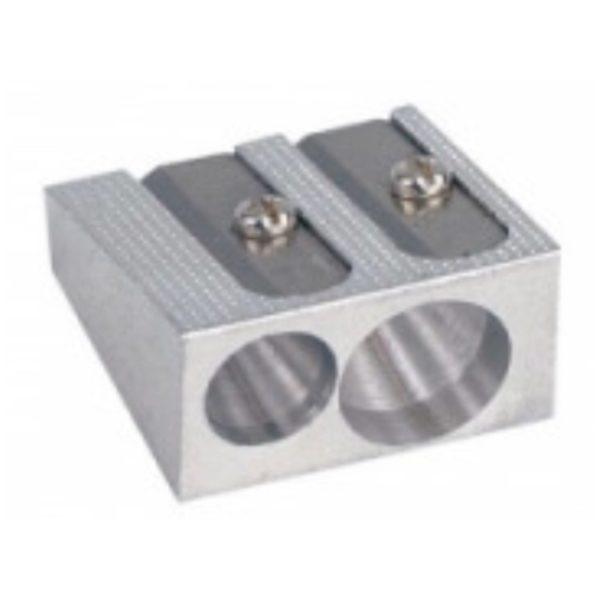 Dobbelt Blyantspidser i metal
