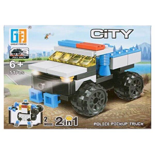 'LEGO' 2 i 1 Politi Pickup / Robot