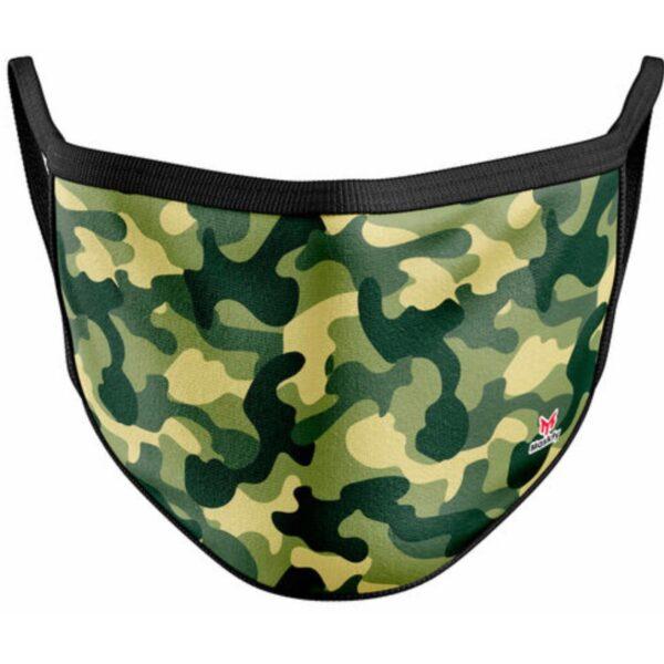 Vaskbar Maske I Grøn Camouflage (voksen str)