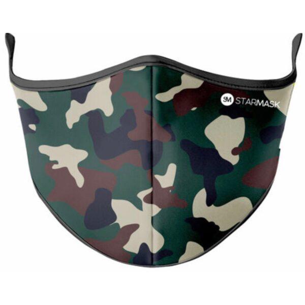 Vaskbar Maske I Army Camouflage (voksen str)