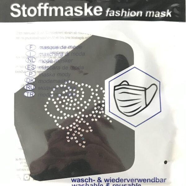 """Stof Maske m. filterlomme - """"Rose"""" (voksen str)"""