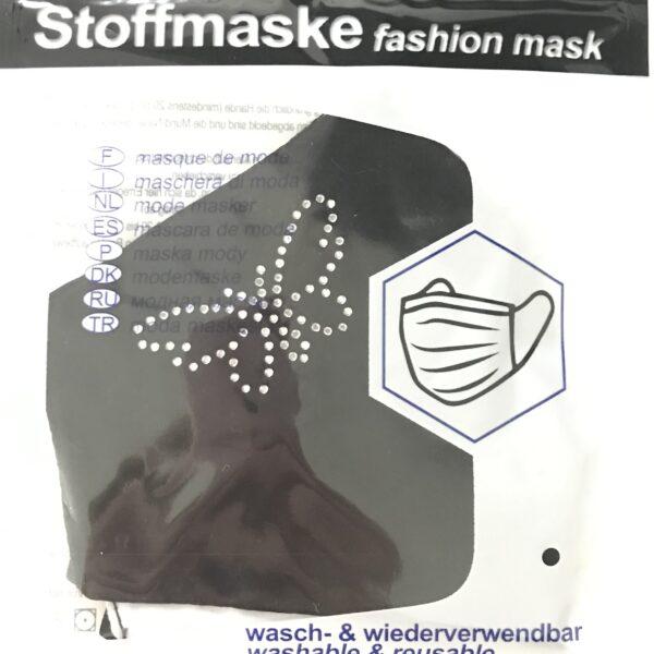 "Stof Maske m. filterlomme - ""Butterfly"" (voksen str)"