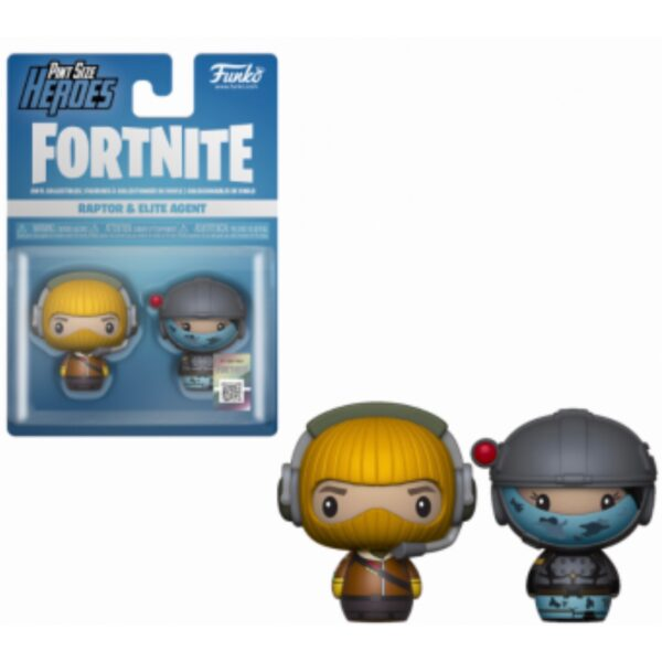 Funko Pint Sized Heroes Fortnite - Raptor & Elite Agent - Vinyl Figures 2-pack