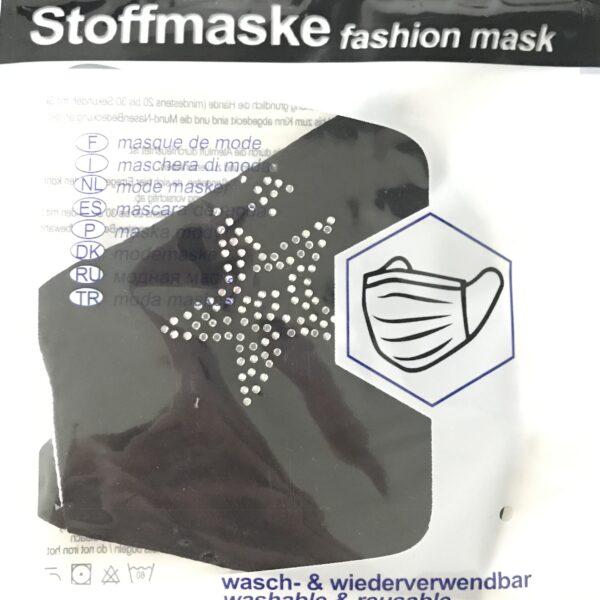 """Stof Maske m. filterlomme - """"Star"""" (voksen str)"""