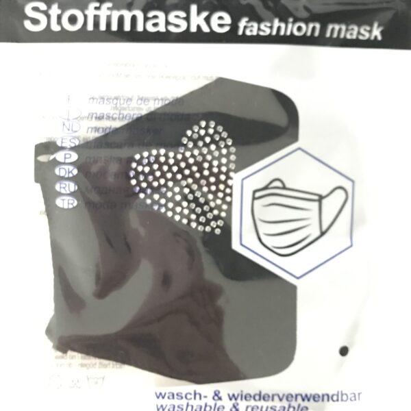 """Stof Maske m. filterlomme - """"Heart"""" (voksen str)"""