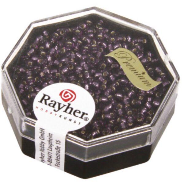 Premium Seed Beads Sølv indsats - Lilla (2.2mm)