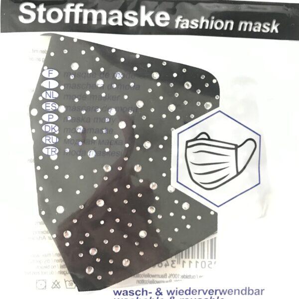"""Stof Maske m. filterlomme - """"Bling"""" (voksen str)"""