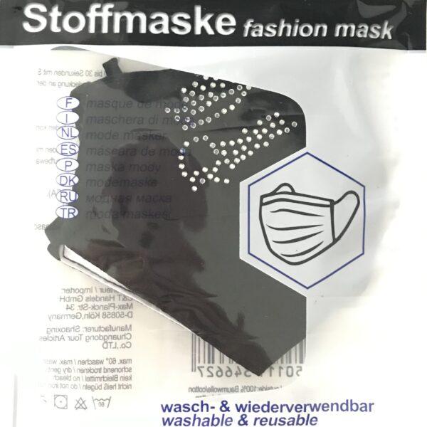 """Stof Maske m. filterlomme - """"Crown"""" (voksen str)"""