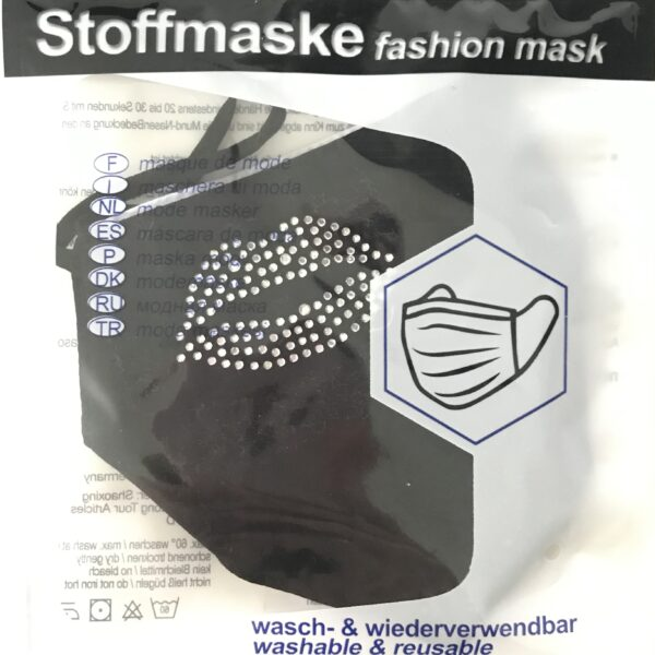 """Stof Maske m. filterlomme - """"Lips"""" (voksen str)"""