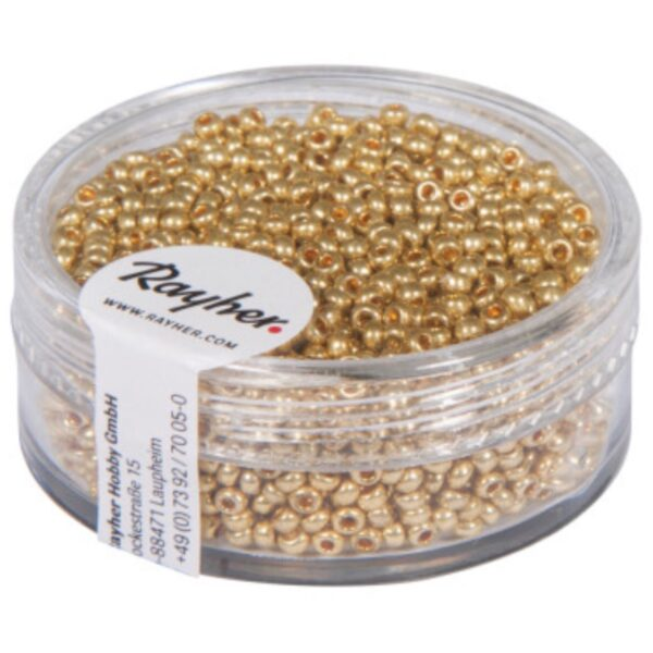 Rocailles Perler - Gold (2mm)