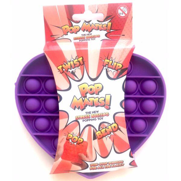 Pop It - Fidget Toy Lilla II (Hjerte)