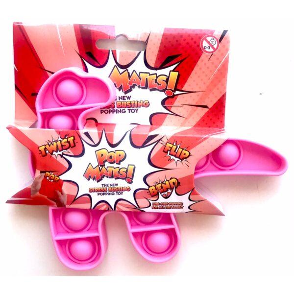 Pop It - Fidget Toy Lyserød II (Dino)
