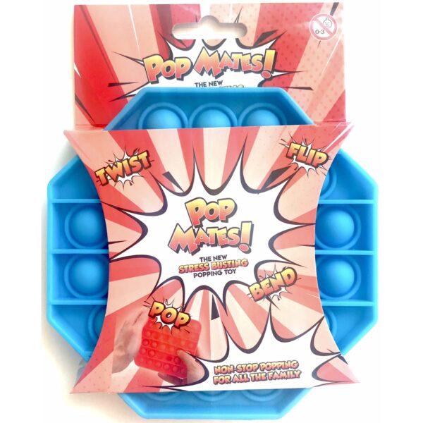 Pop It - Fidget Toy Blå II (Ottekant)