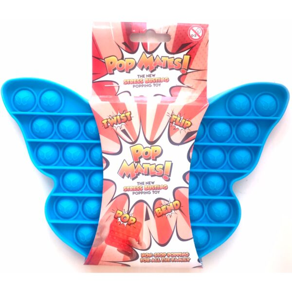 Pop It - Fidget Toy Blå II (Sommerfugl)